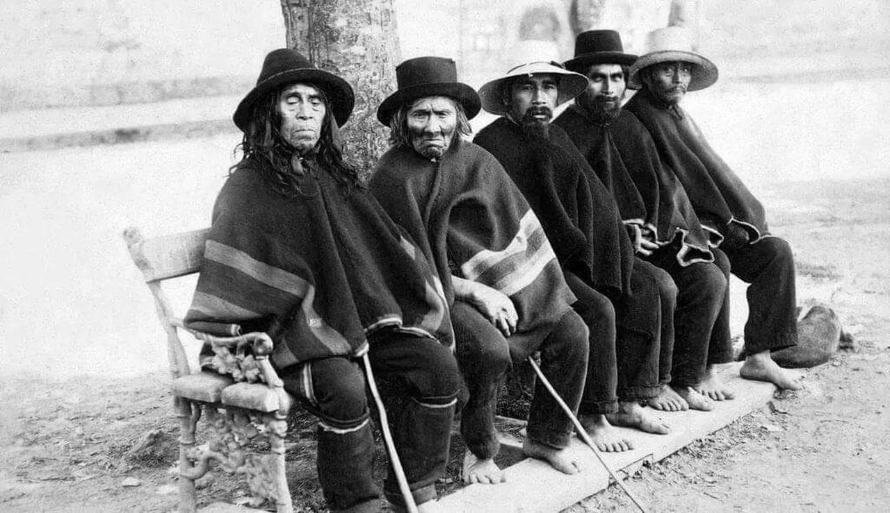 Looking At Camera People Mapuches