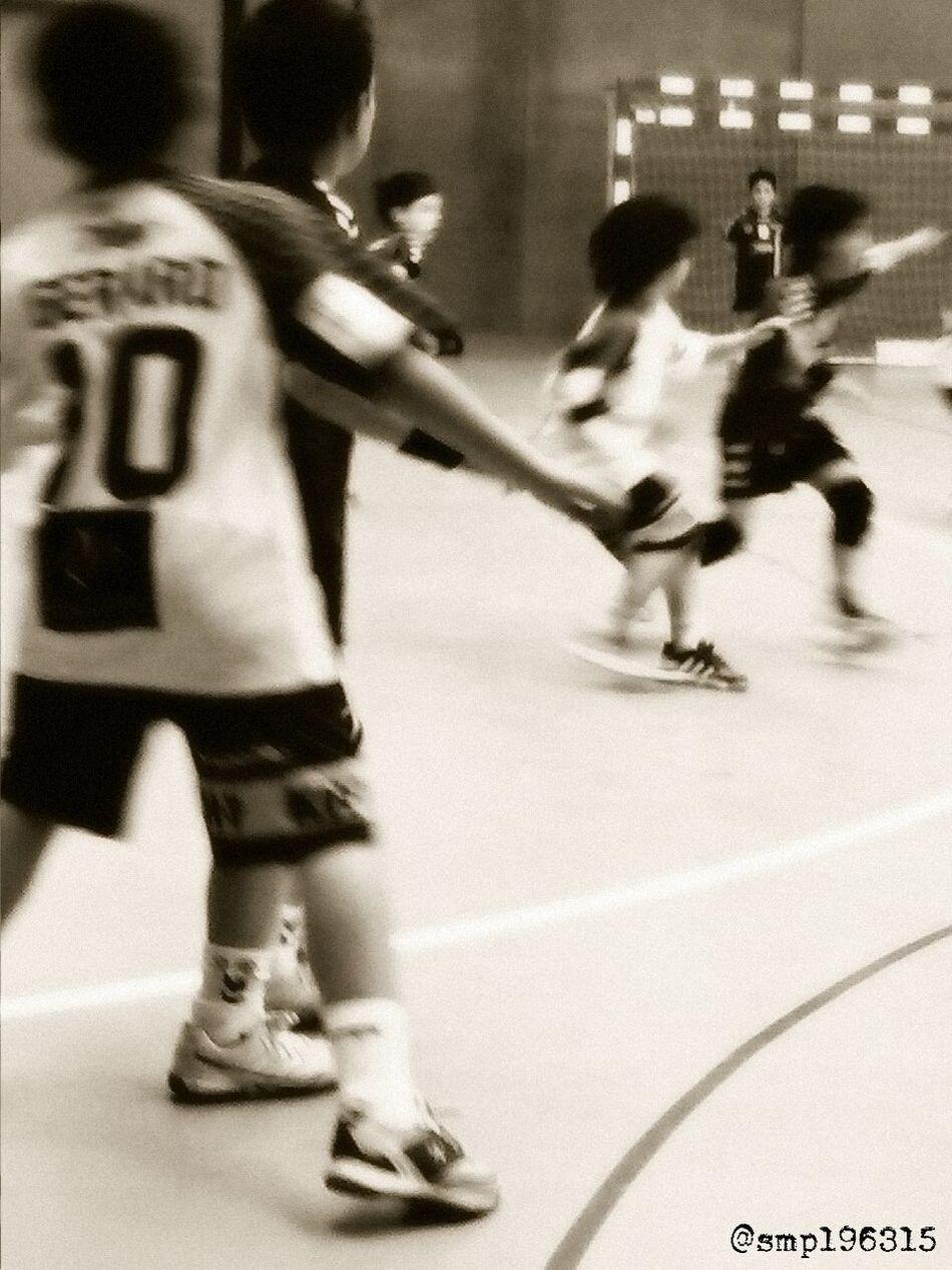 Handball Santantonidevilamajor vs Granollers prebenjamín 6/15. Black&white