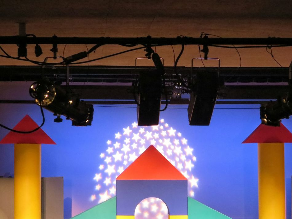 starring. [I love this set, don't you? The show is 'Children's Letters to God,' btw.] Architecture Built Structure Multi Colored Ceiling Colorful Performance Theatre Theater Performing Arts On Stage Stage Musical Theater  Entertainment The Color Of School
