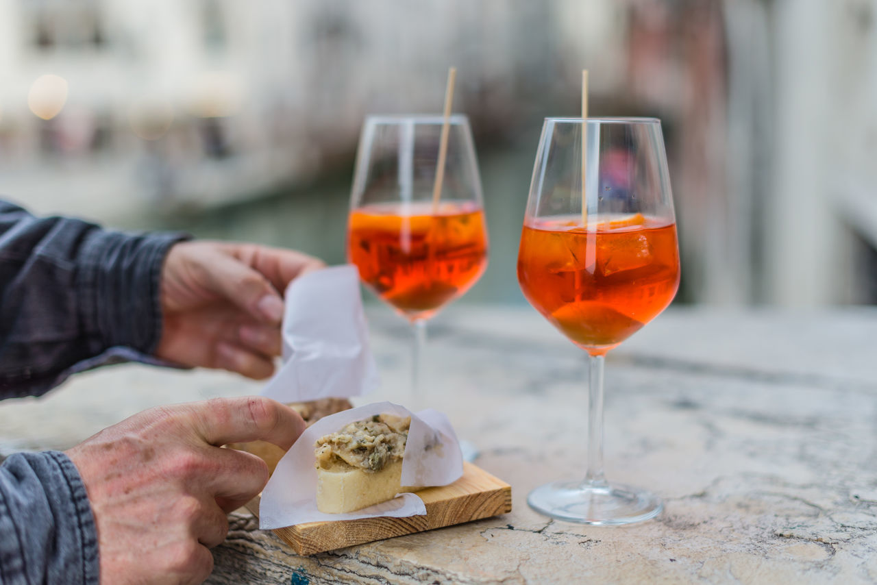 Close-up Food And Drink Food And Drink Human Hand Italy❤️ Mobile Conversations Sprizzettiamo Togetherness Venice Italy Venice, Italy