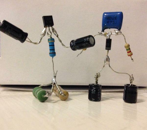 Close Up Technology Electronics  Electronic Electronic Components Electronic Component Sparebots Sparebot Capacitors Capacitor Resistors Resistor Transistors Transistor Miniature Close Up Electronic