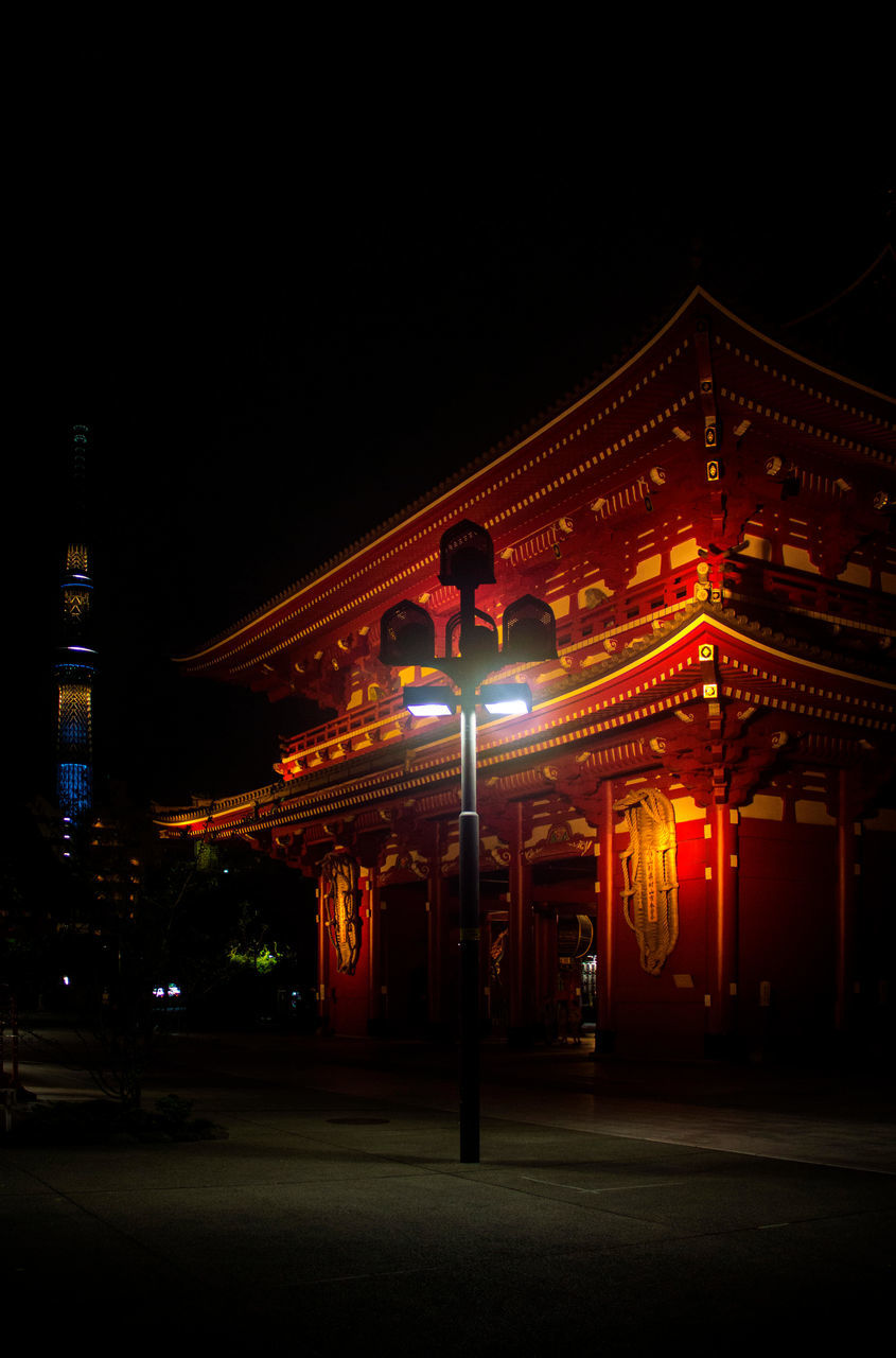 night, illuminated, architecture, built structure, building exterior, entrance, copy space, outdoors, communication, no people, clear sky, entry, city