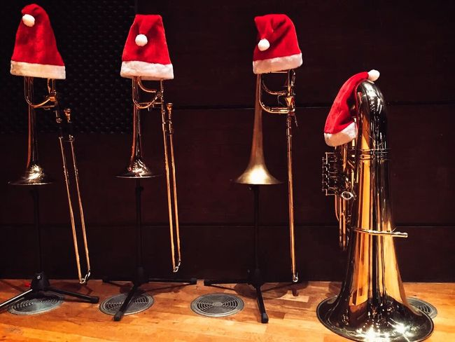 TakeoverContrast The Color Of Business The Culture Of The Holidays Christmas Time Christmas Around The World Christmas Handmade Christmas Concert Music Is My Life Music Brings Us Together Musicians Brass Orchestra Symphony With My Colleagues Trombone Tuba