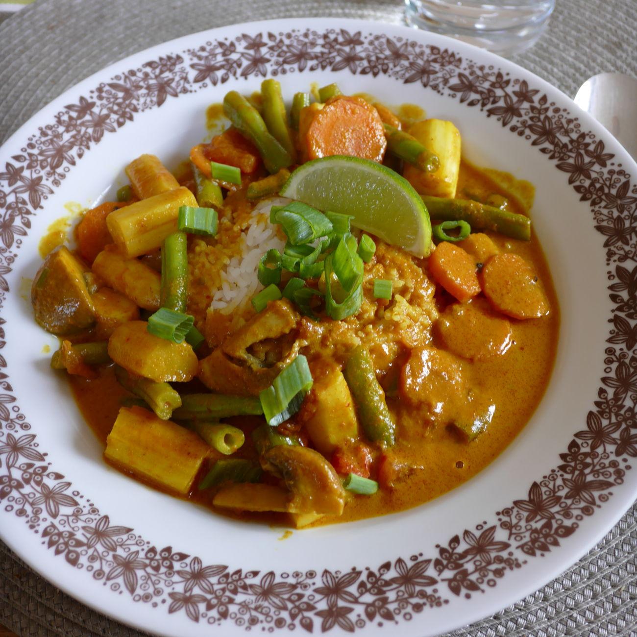 Würziges Kokos-Curry Curry Rice Hellofresh