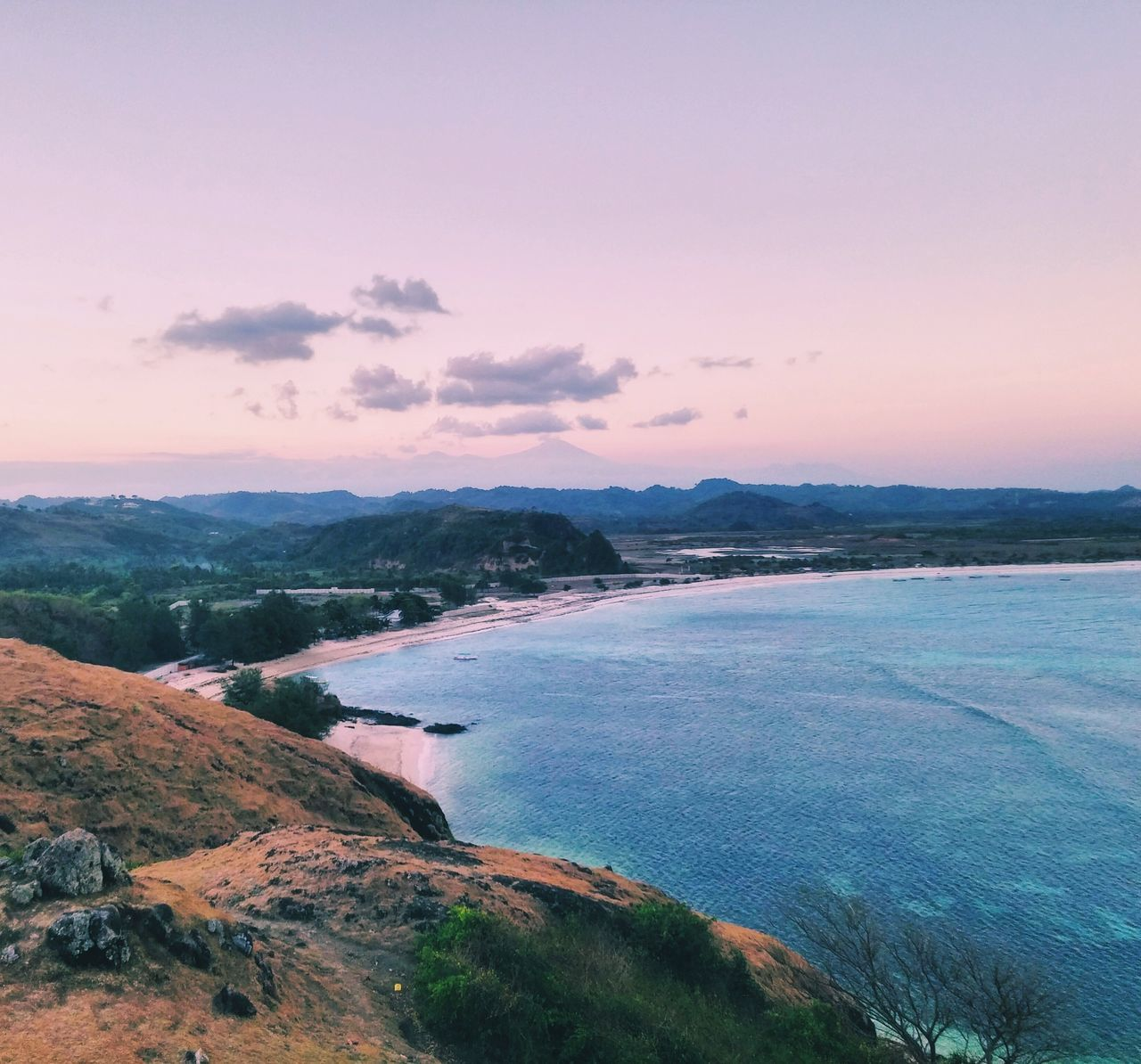 Sunset Sea Landscape Outdoors No People Beach Scenics Beauty In Nature Mountain The Great Outdoors - 2017 EyeEm Awards