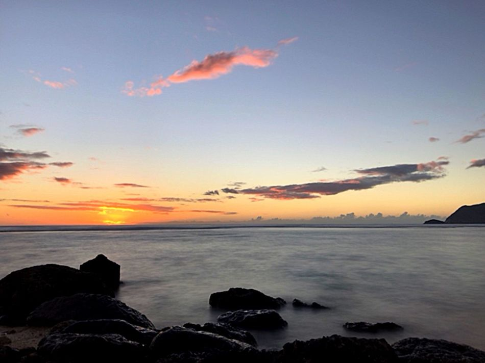 Perspectives On Nature Sea Sunset Sky Water Scenics Nature Horizon Over Water Tranquil Scene Beauty In Nature Tranquility Silhouette Beach No People Outdoors Day