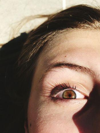 Eye Human Body Part Only Women Close-up Eyelash Human Skin Sunlight