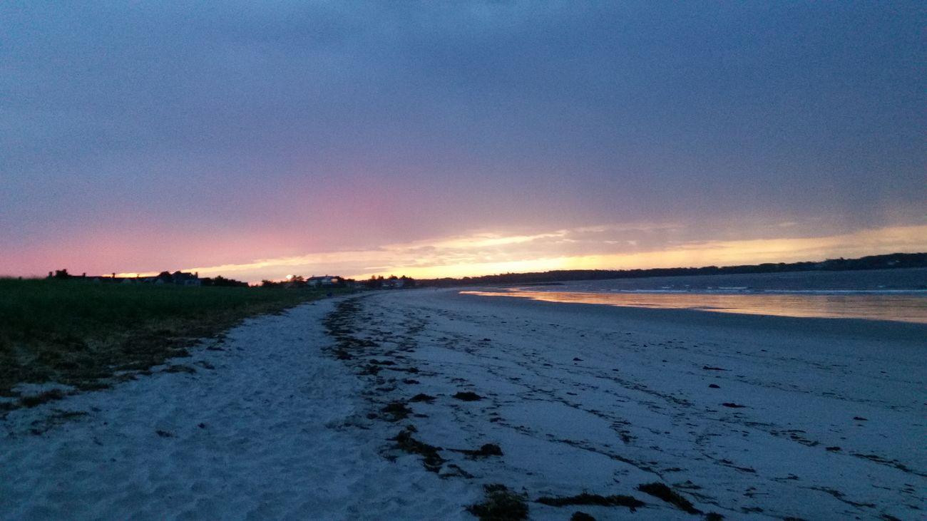 Sunrise at OOB OOB Oldorchardbeach Oldorchard Beach Sunrise Sun Pink Yellow Sky Pinksky Yellowsky Pinkandyellowsky