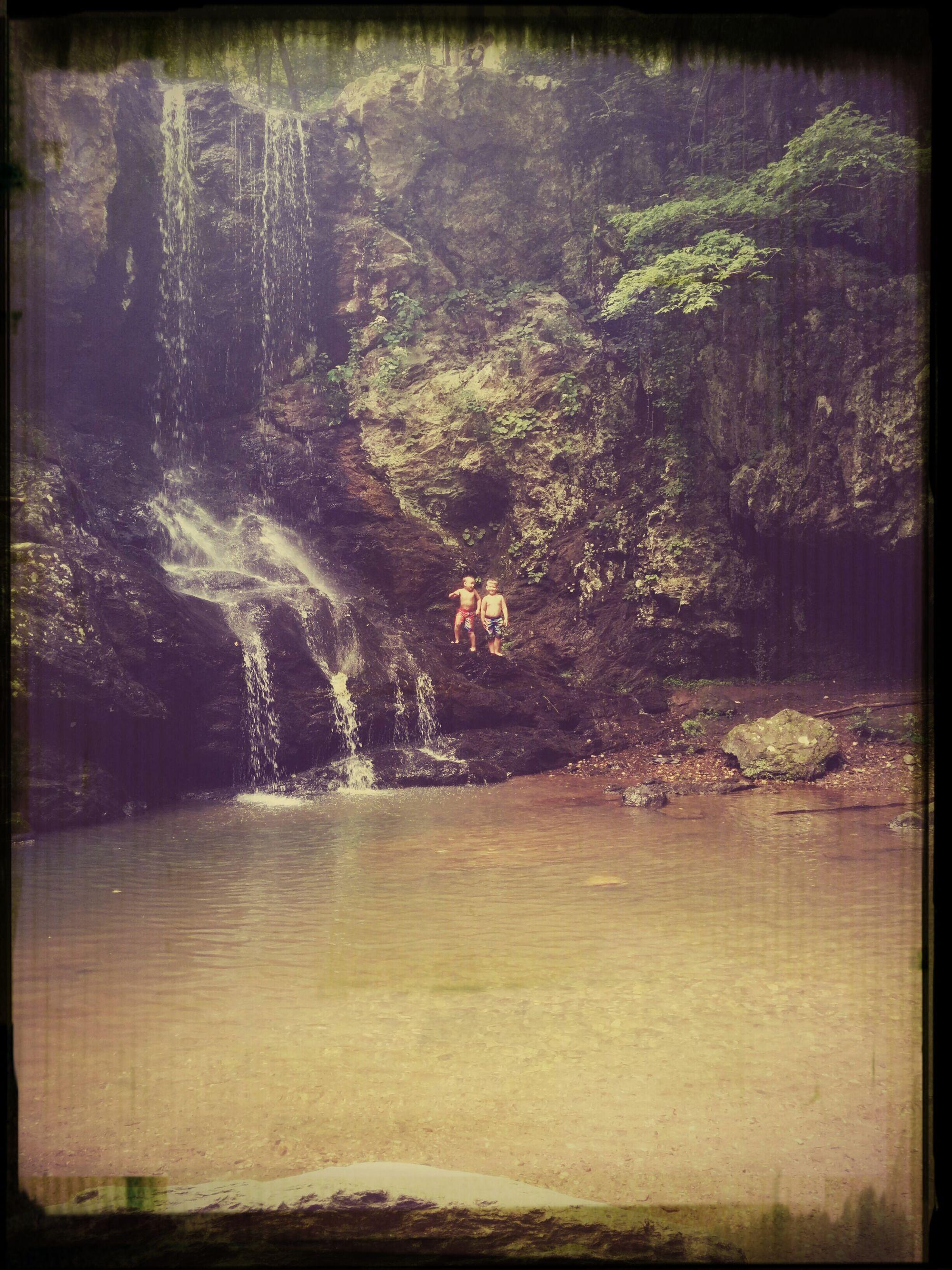 Waterfall Hello World Daddyboys Memories