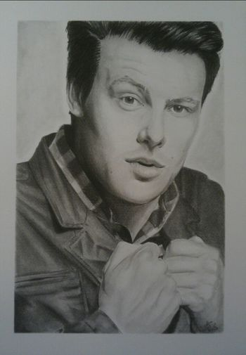 Art Portrait Drawing My Drawing Glee My Art DarcArt Finn Hudson Cory Monteith