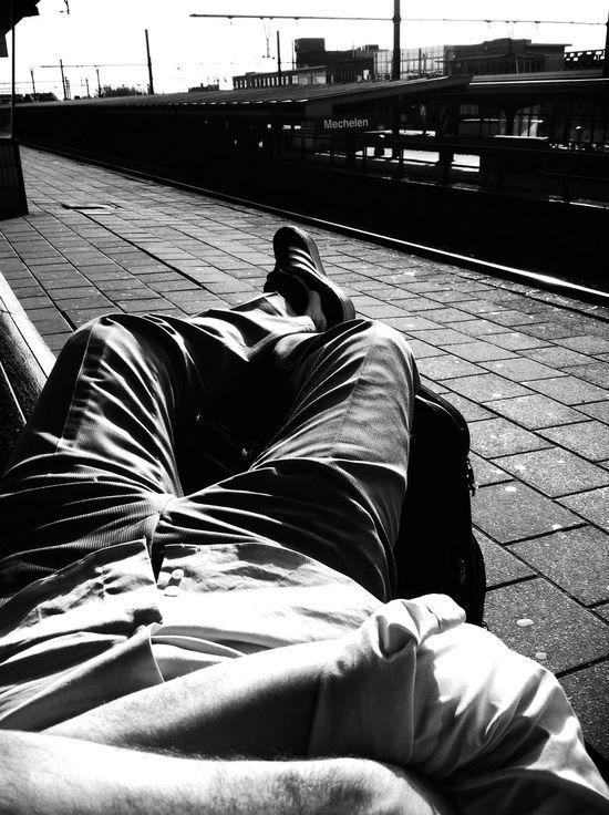 Waiting at Station Mechelen Waiting