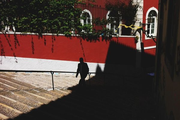 shadow in Lisbon by David Clifford