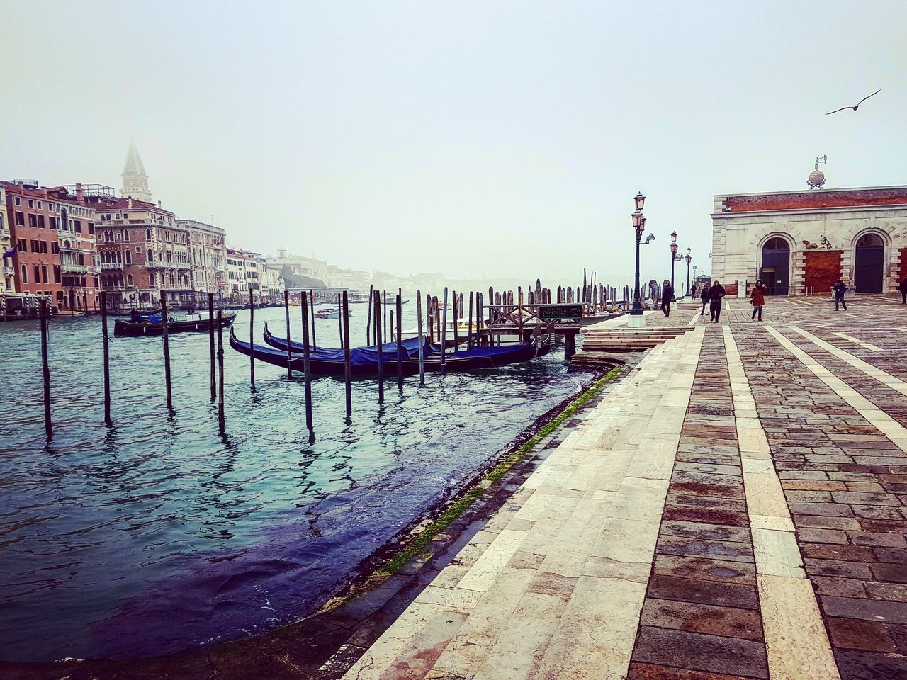 Misty Venice, Italy. Travel Destinations Outdoors Gondola - Traditional Boat Tranquil Scene No People Day Nature Water Sky Venice Venice Italy Venice Carnival Venice Canals Venicelife Venice View Venice Gondola EyeEmNewHere Foggy Foggy Morning Foggy Landscape Foggy Day Foggy Weather