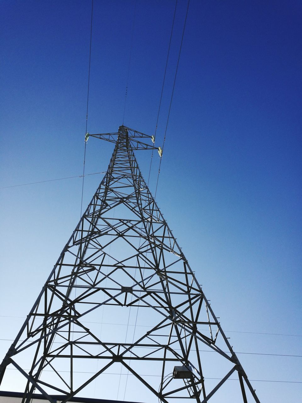 cable, electricity pylon, electricity, power supply, connection, fuel and power generation, tower, clear sky, low angle view, technology, no people, day, sky, outdoors