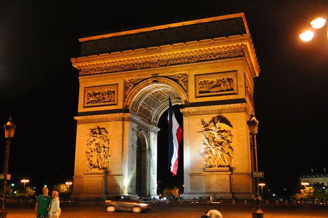 Arc De Triomphe Architecture Architettura Arco Di Trionfo City France Francia Lights Monument Monumento Night Notte Nuit Parigi Paris City At Night