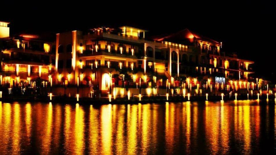 Water Reflections Nightphotography Enjoying Life Memory Malacca Worldheritagesite Tourist Attraction
