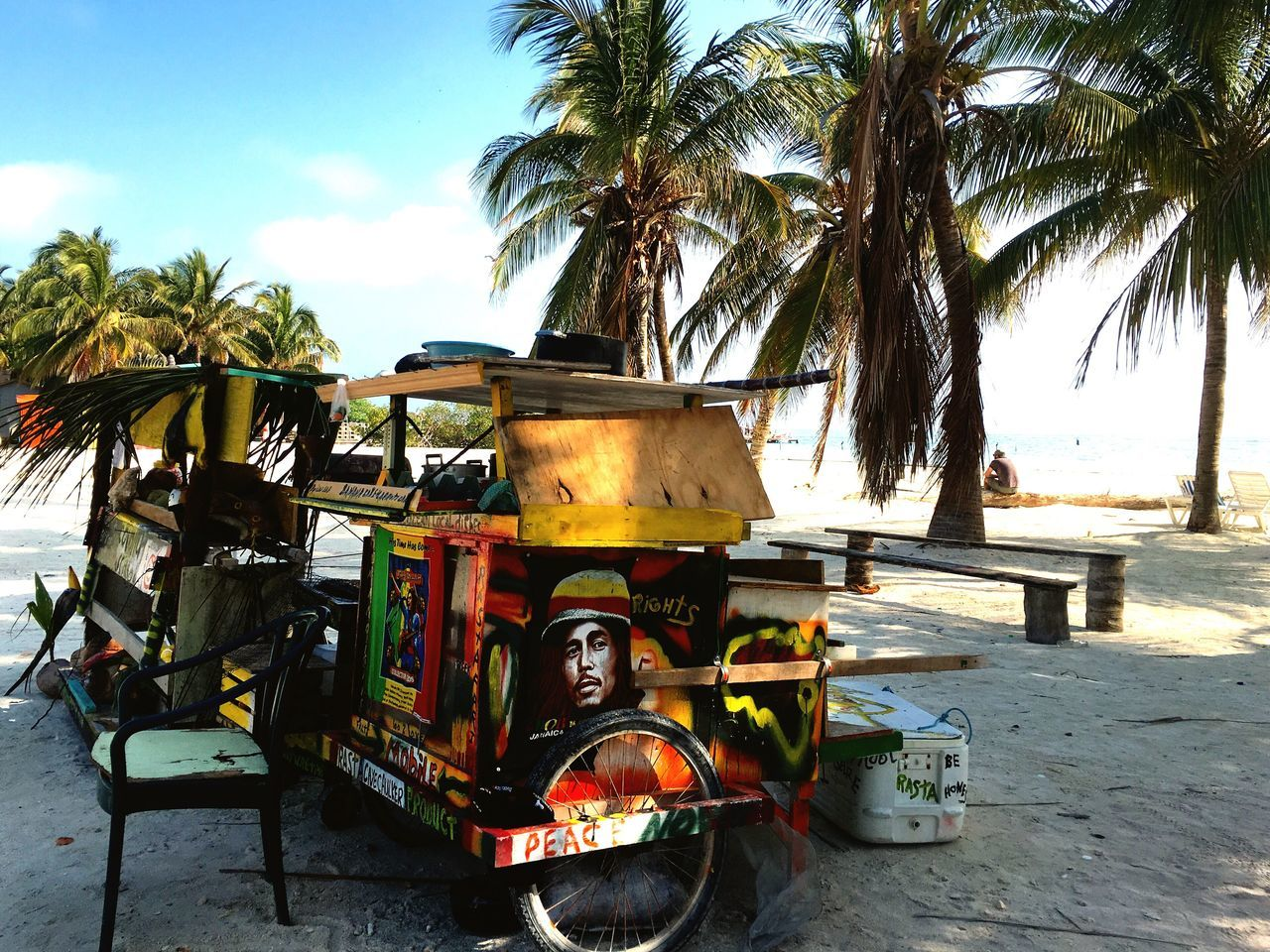 Rasta coconut wagon Just Taking Pictures I LOVE PHOTOGRAPHY Taking Photos Go Slow Getting Inspired Caye Caulker Belize  Just Hanging Out On The Road ! Island Life