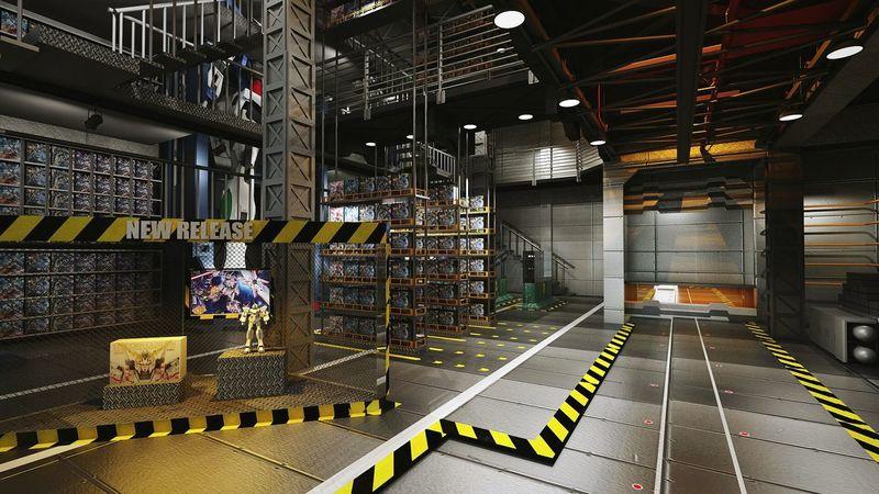 First Eyeem Photo 3d Rendering Interior Design Gundam Retailstore BANDAI Collage Modelkit Toys