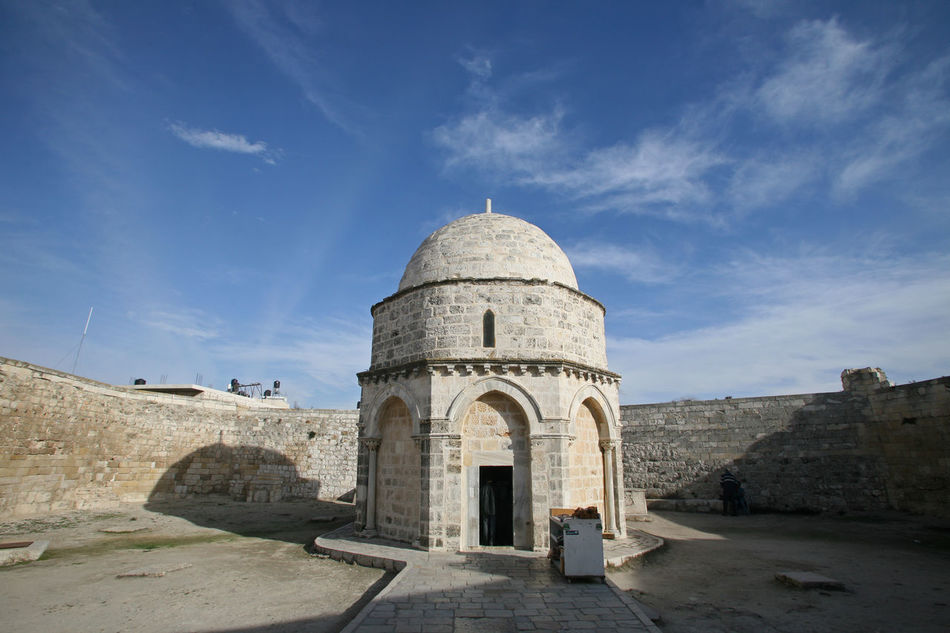 Chapel of the Ascension of Jesus Christ, Jerusalem, Israel Ancient Architecture Ascension Chapel Christ Christianity Church City History Holy Holy City Holy Land Israel Jerusalem Jesus Jesus Christ Middle East Mount Of Olives Old Palestine Pilgrimage Religion Wall Worship