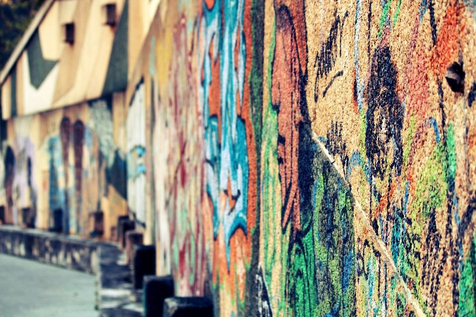 Art Is Everywhere Wall - Building Feature Graffiti Multi Colored Weathered Street Art Day Architecture No People Built Structure Textured  Outdoors Backgrounds Close-up Colorful Art Painting Paint Basque Country Wall Coast Photography Canon Picoftheday Good Night