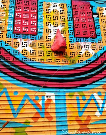 Streetphotography Street Art Smile ✌ Colors Happiness Costa Rica The Mix Up Adapted To The City