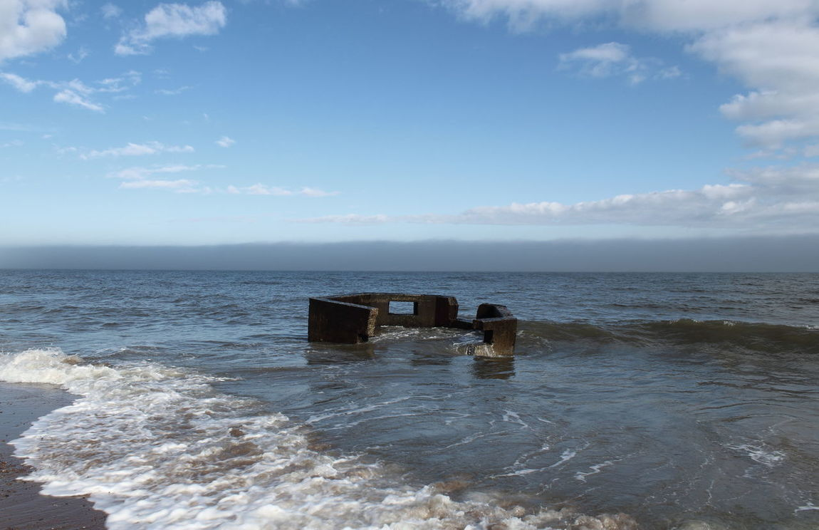 Abandoned Places Aberdeen Beach Bunker Concrete Erosion Horizon Over Water Military History Ruin Sea Defence Sun Light Wave World War 2