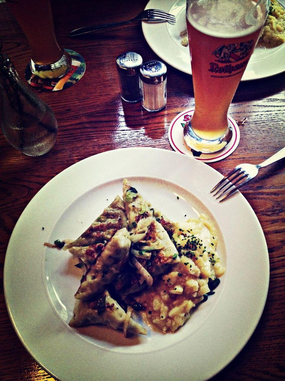 German dumplings and beer does a body good.