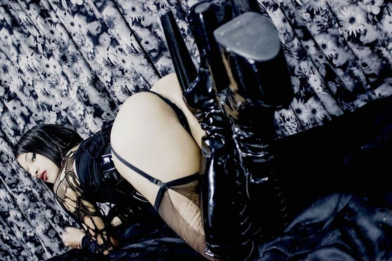 Haunted Fetish Model Gothic Transgender Sexygirl Gay Latina Blackandwhite Getting In Touch People Watching