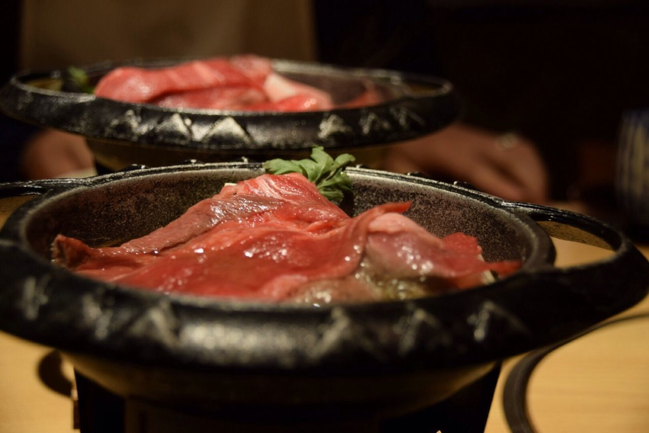 Sukiyaki Food Meat Food And Drink Indoors  Freshness No People Table SLICE Close-up Ready-to-eat Red Meat Day