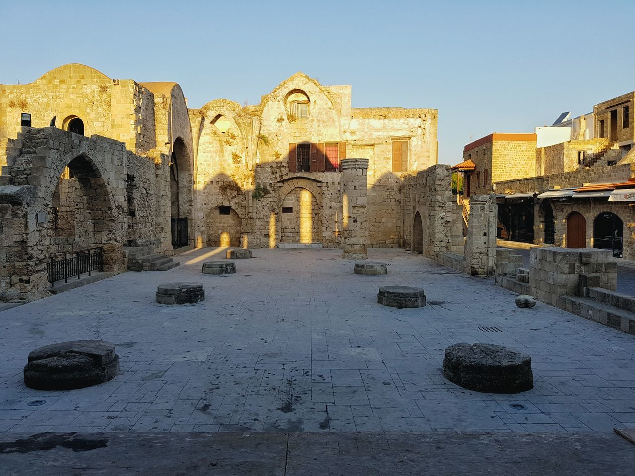 Morning Light Middle Ages Castle Old City Rhodos Rhodes Greece Rhodos Fine Art Photography Blue Sky Idyllic Scenery Church Church Ruin Rhodos, Greece  No People The City Light