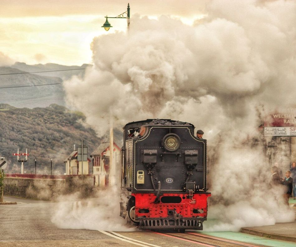 Ffestiniog Railway Steam Train Locomotive Rail Transportation Travel Mode Of Transport Railroad Track Train - Vehicle Porthmadog North Wales