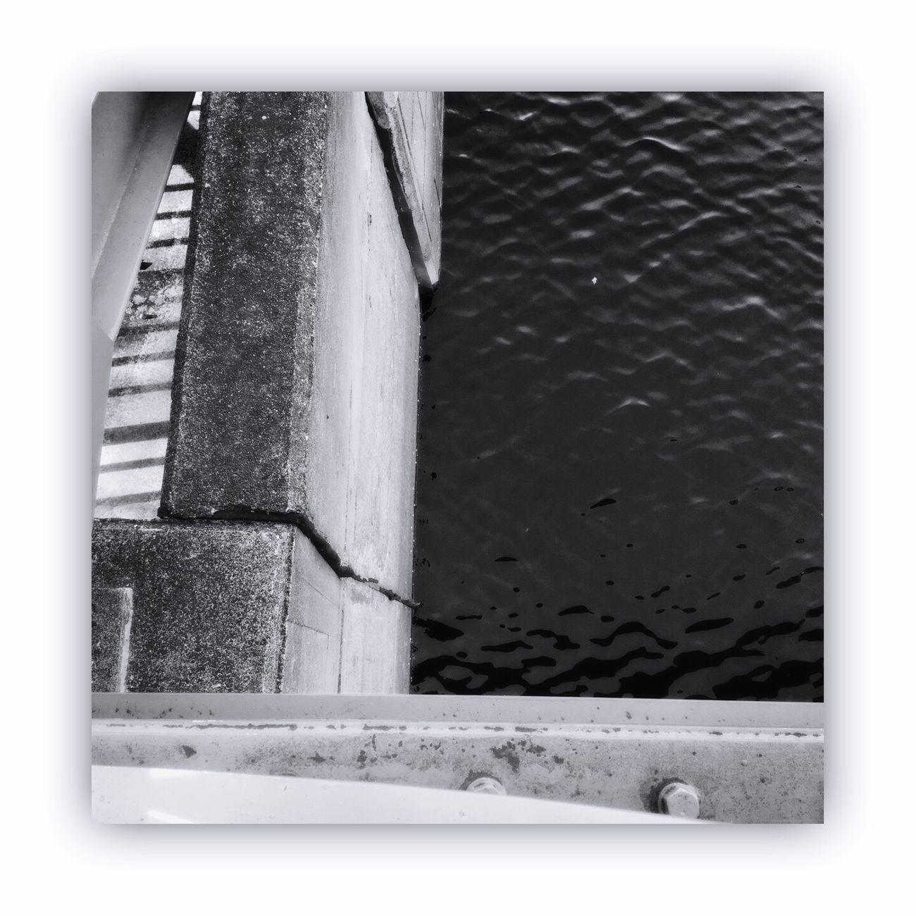 「川を橋の上から撮る」 I Took The Rivers From On The Bridge River Bridge Light And Shadow Blackandwhite Monochrome Monochrome_life