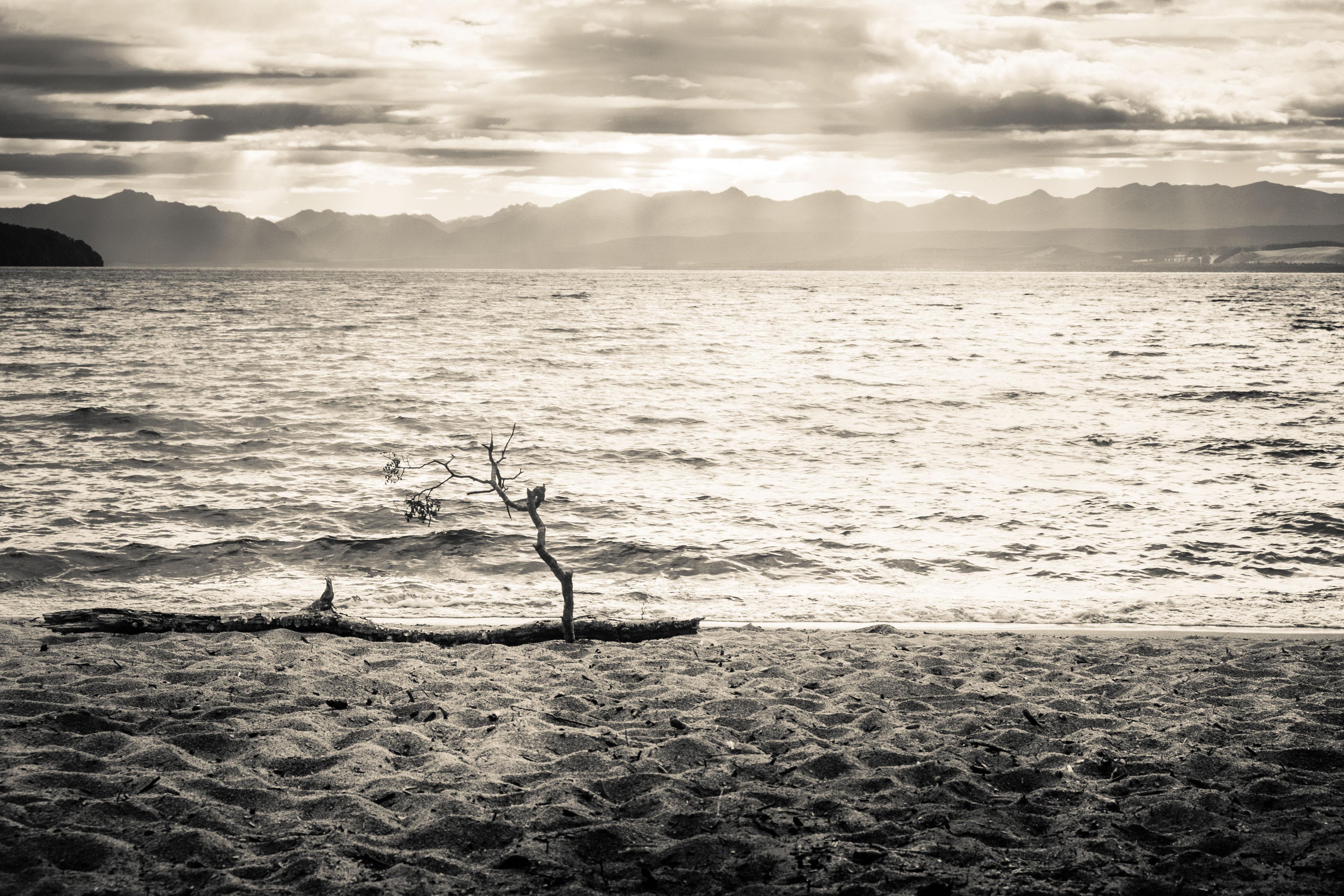 Idyllic Seascape Against Cloudy Sky