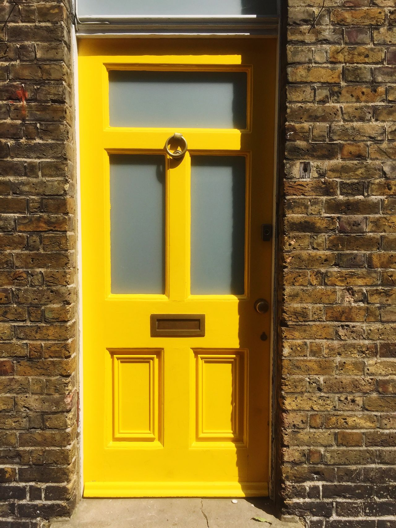 EyeEm Selects EyeEm Selects doors of East London Yellow Door Outdoors Day No People Architecture Built Structure Brick Wall Building Exterior Close-up