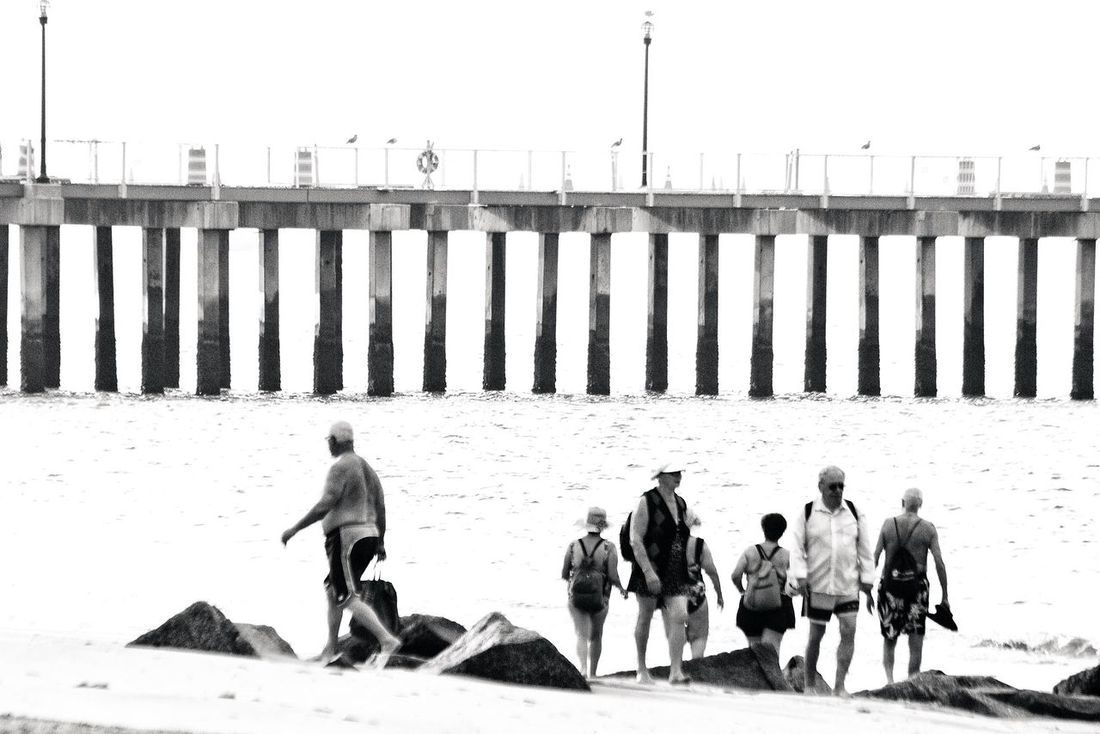 Pier Beach Beachphotography People Blackandwhitephotography Black & White Black&white Blackandwhite Coney Island / Brooklyn NY coneyisland