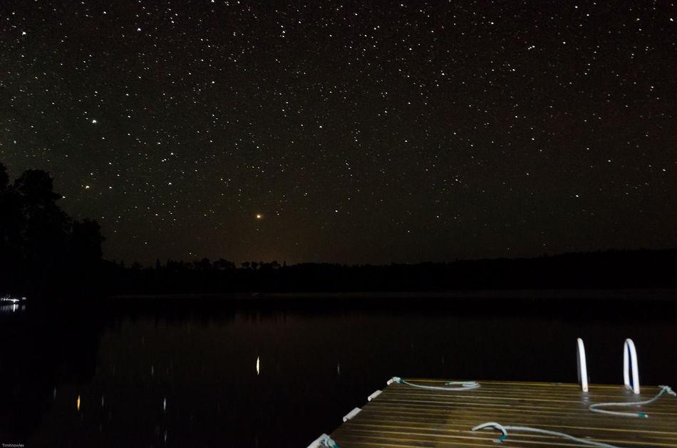 Lake mattagami northern ontario canada Night Sky Astrophotography Canada Coast To Coast Ontario, Canada Nikon D7000 Stars Star Collection Water_collection