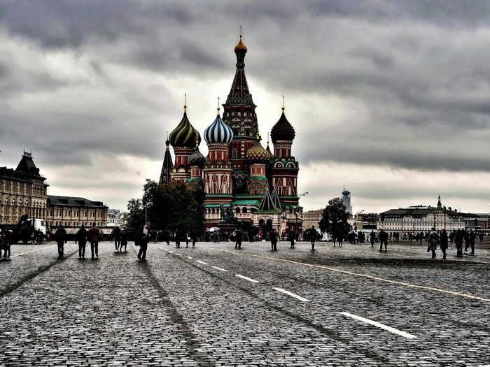 Architecture Building Exterior Built Structure City Cloud - Sky Moscow Place Of Worship Red Square Religion Sky Spirituality St Basil's Cathedral Travel Destinations