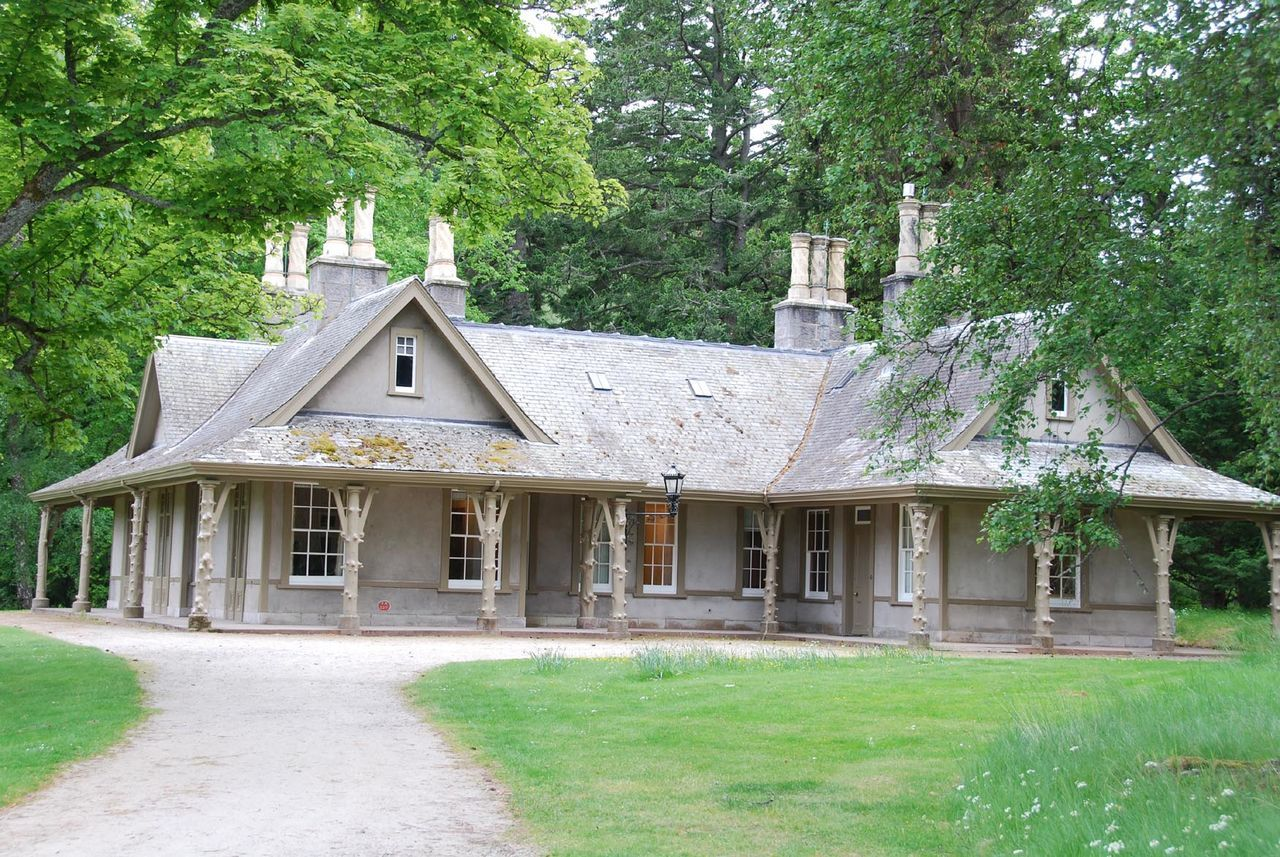 The small cottage - Balmoral Castle, Scotland Architecture Balmoral Castle Building Exterior Built Structure Day Grass Green Color Growth House Nature No People Outdoors Tree UK Monarchy Victorian Architecture