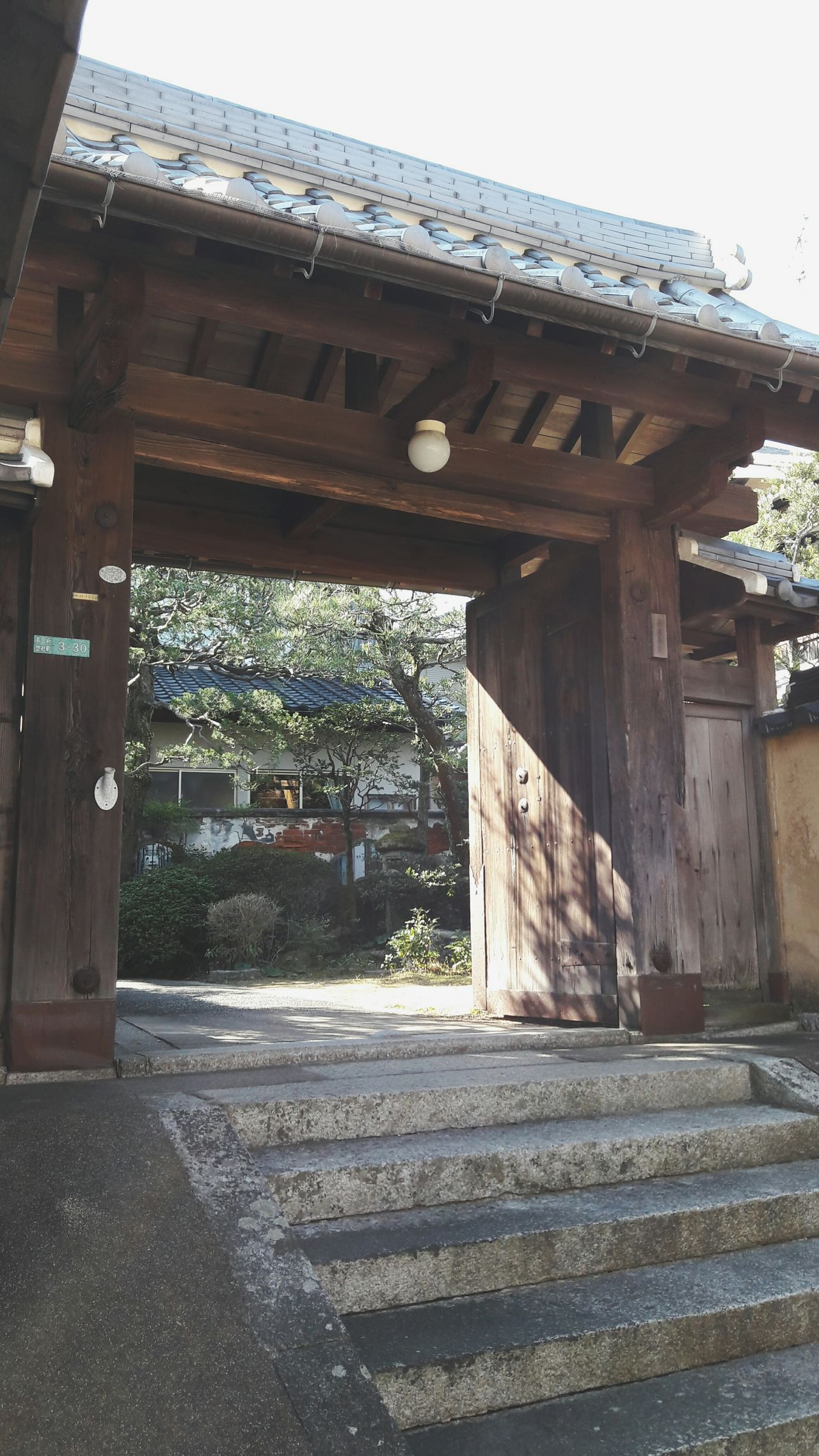 Built Structure Day Outdoors No People Trip To Japan Travel Japan Wooden Gate