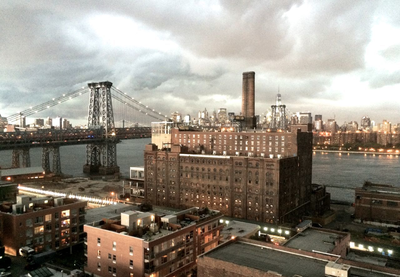 Domino Sugar building, before the storm. Architecture Building Exterior Capital Cities  City Cityscape Community Crowded Development Residential District