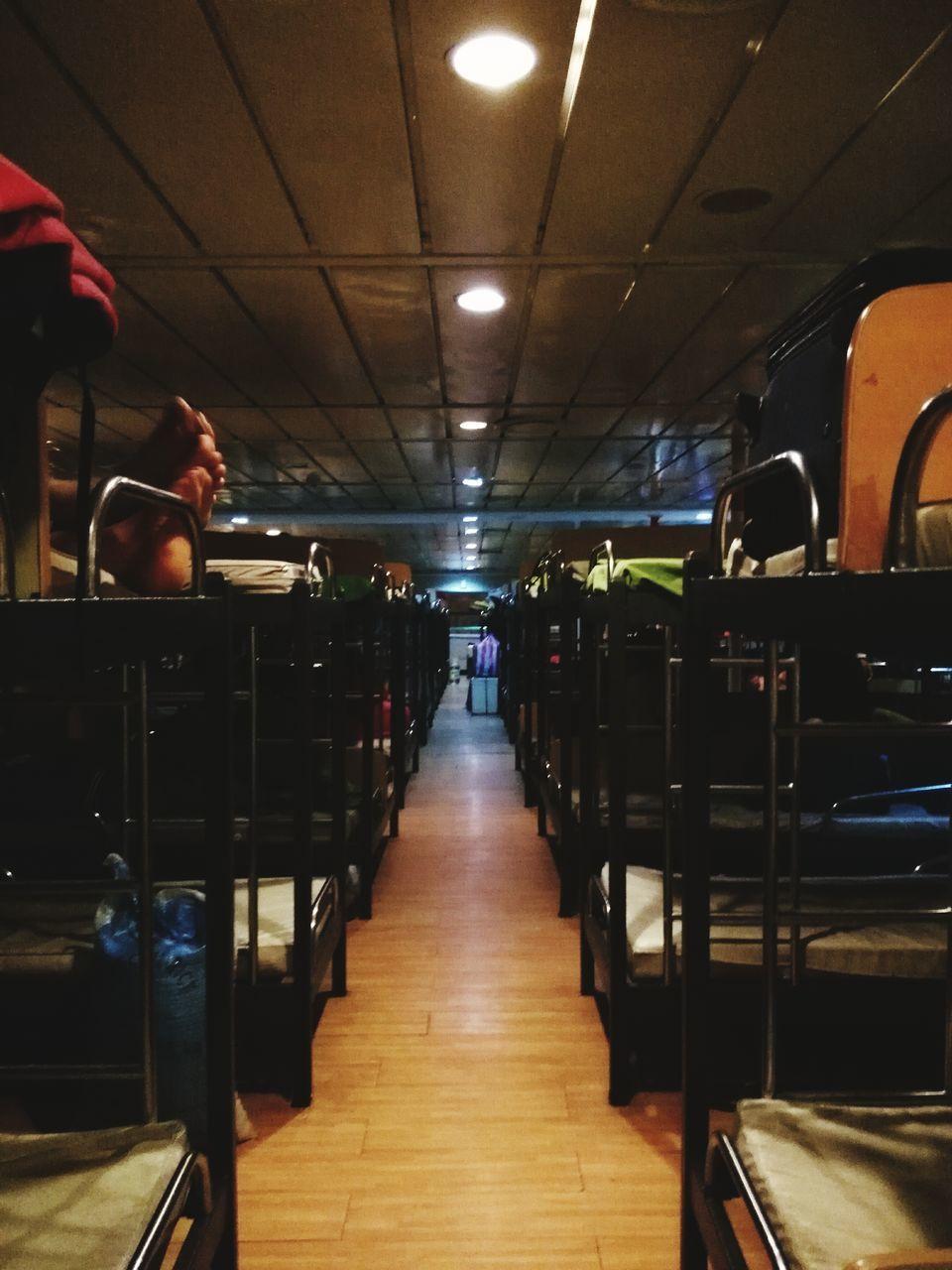 indoors, illuminated, vehicle seat, real people, transportation, day