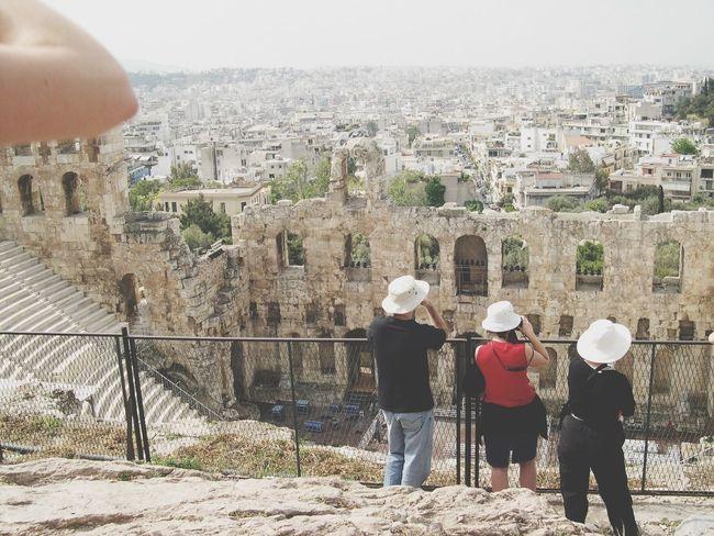 Taking Photos Parthenon Acropolis Greece 2004