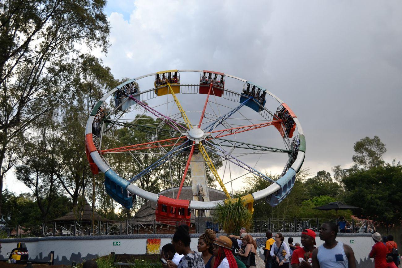 Amusement Park Adrenaline Junkie Amusement Parks Amusement Rides Big Wheel Crowd Fun Gold Reef City People