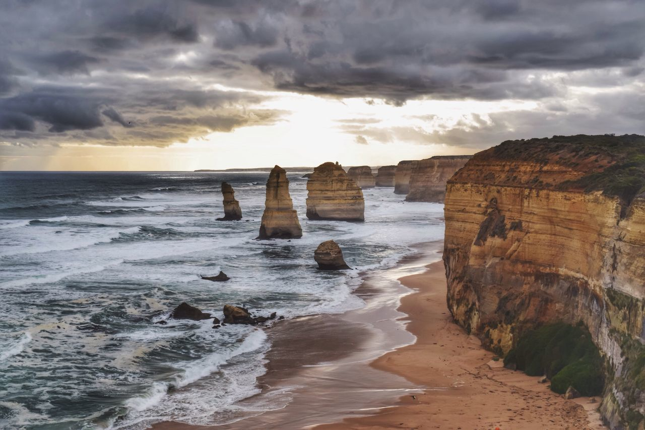 The twelve apostles Apostles Australia Aussie Sea Coastline Ocean Wave Scenics Summer Coast Landscape Beautiful Rocks Nature Travel Tour Tourism Attraction Visit Nature Photography The KIOMI Collection Nature's Diversities