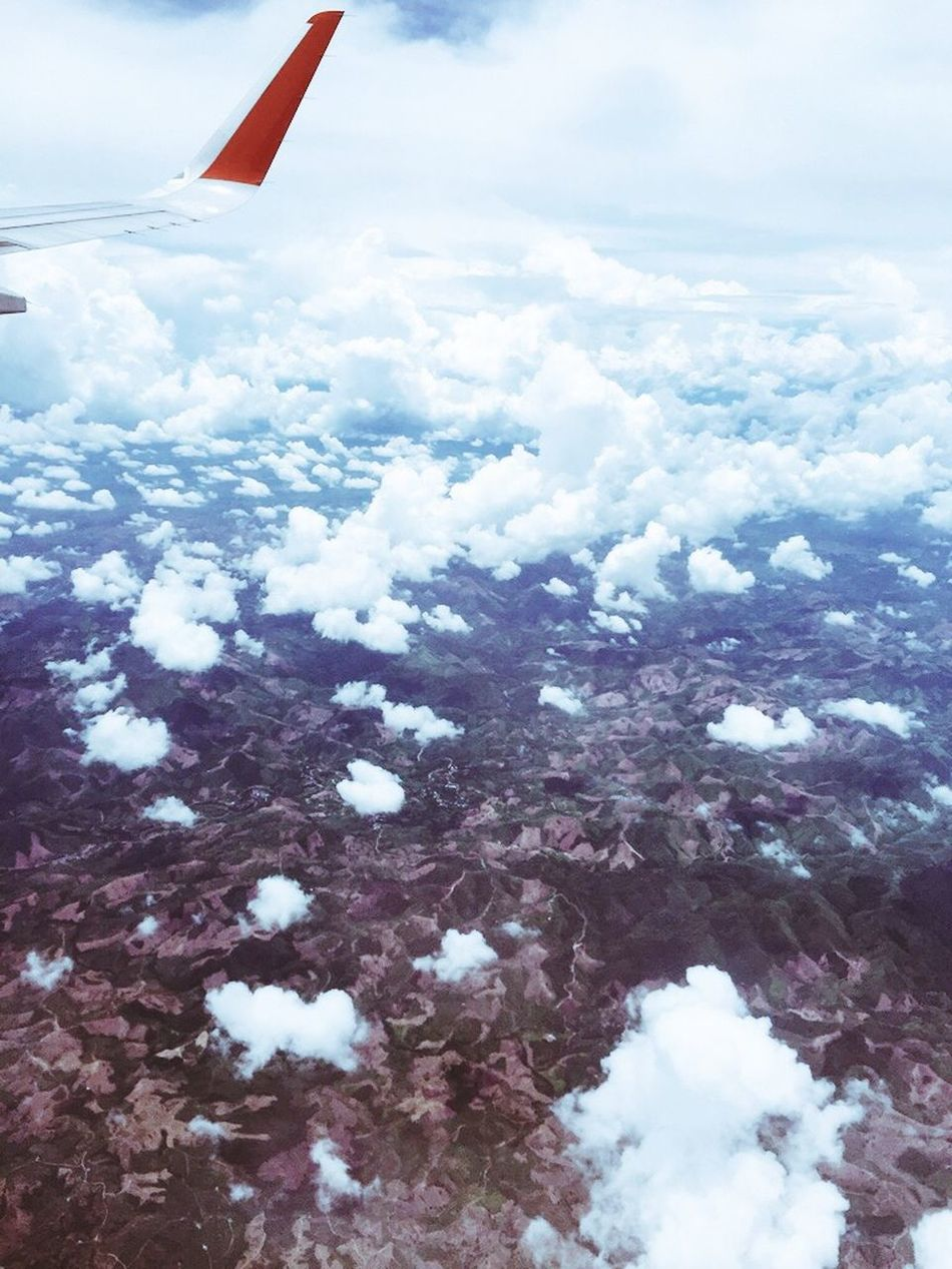 Top View Clouds And Sky Clouds Ground On The Plane ✈