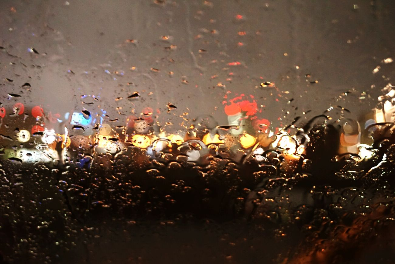 Rany Day Rany Raindrops Nightphotography Night Photography Night View Night Lights Nightshot Inmycar Sentimental