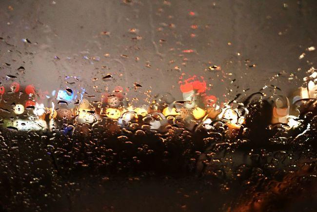 Rany Day Rany Raindrops Nightphotography Night Photography Night View Night Lights Nightshot Inmycar Sentimental