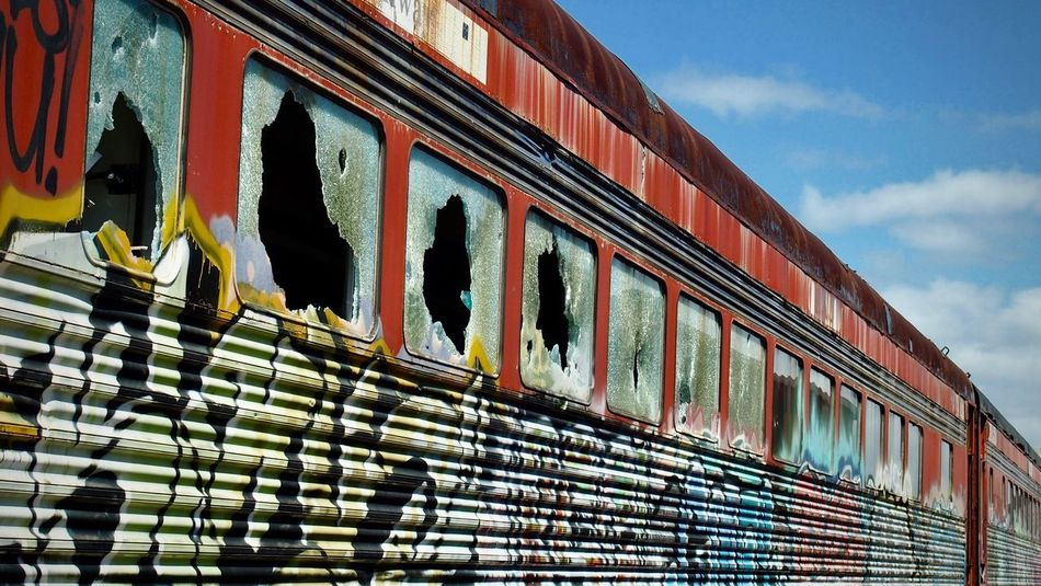 Abandoned train cars Train Train - Vehicle Trainphotography Train_nerds Trainporn Trainspotting Train Graffiti  Abandoned Abondened Places