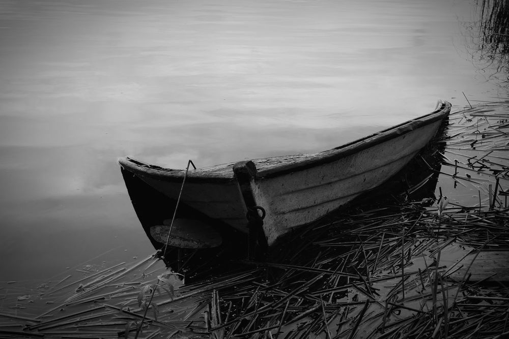 Sunken Boat Boat Lake Finnish Lake Fine Art Photography Finland Forgotten