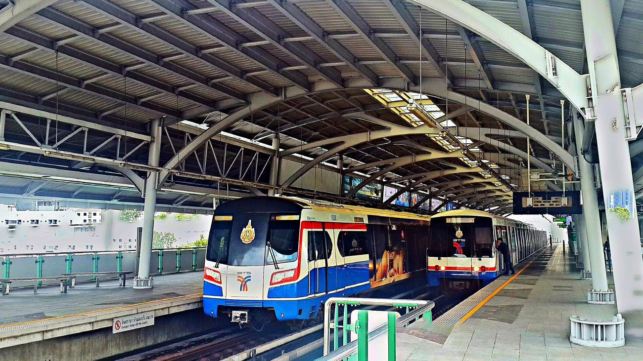 around Sukhumvit Bangkok BTS City City Life Public Transportation Railroad Track Railwaystation Skytrain BTS Sukhumvit Thailand Train - Vehicle